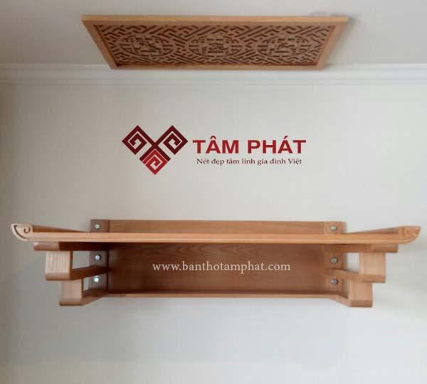 Mẫu bàn thờ treo tường đẹp hiện đại TT0016 là lựa chọn giúp tiết kiệm diện tích. Bàn thờ treo tường TT0016 giá rẻ, bền, đẹp cho mọi chung cư