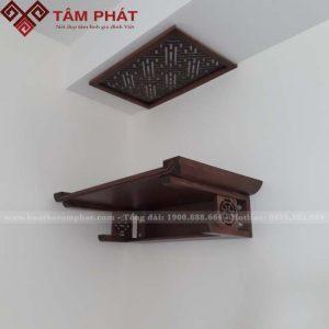 Mẫu bàn thờ treo tường gỗ Gụ