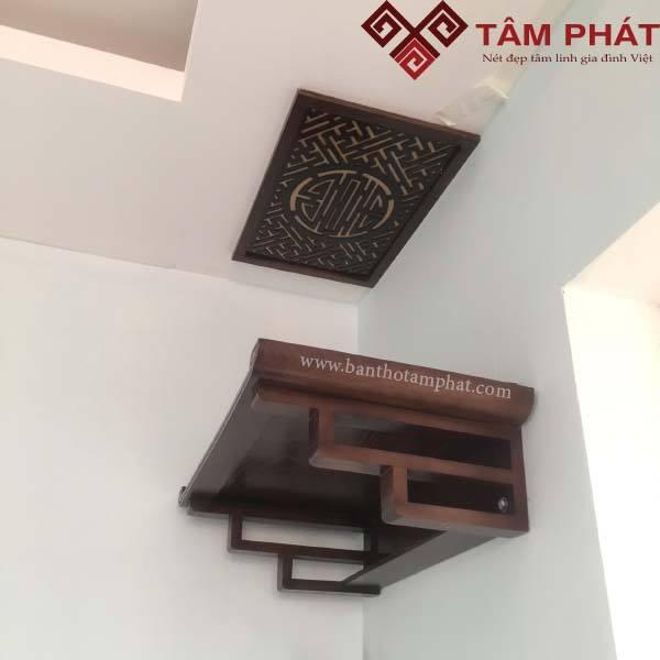 Mẫu bàn thờ treo hiện đại gỗ Gụ
