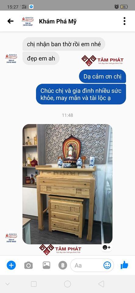 Phản hồi của khách hàng về mẫu bàn thờ BT004
