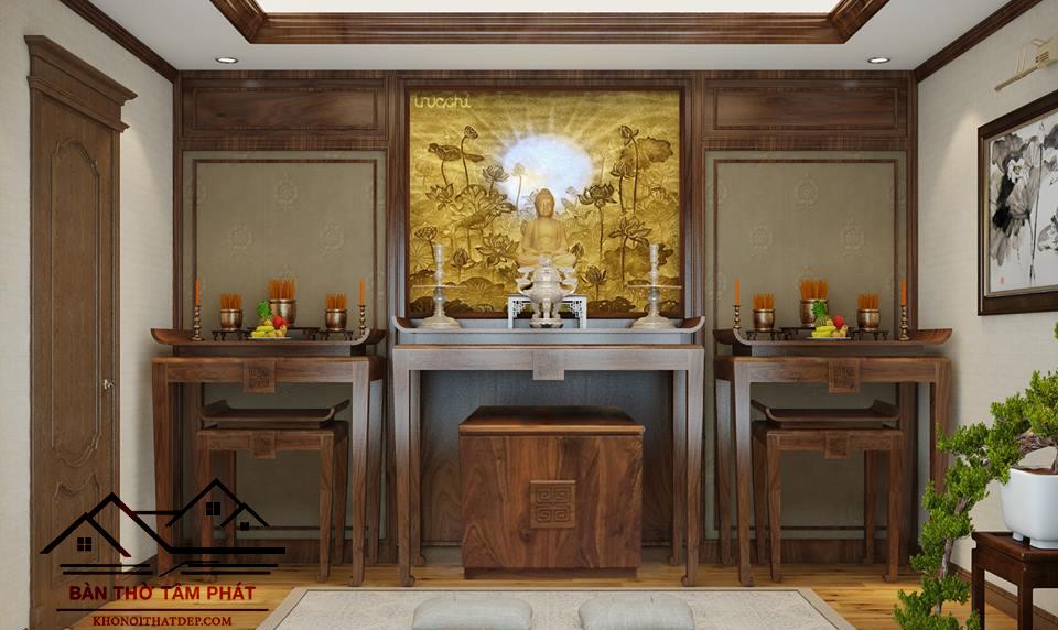 Cách chọn kích thước bàn thờ mang lại tài lộc cho gia đình