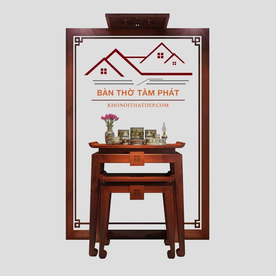 Bàn thờ Tâm Phát – nét đẹp tâm linh gia đình Việt