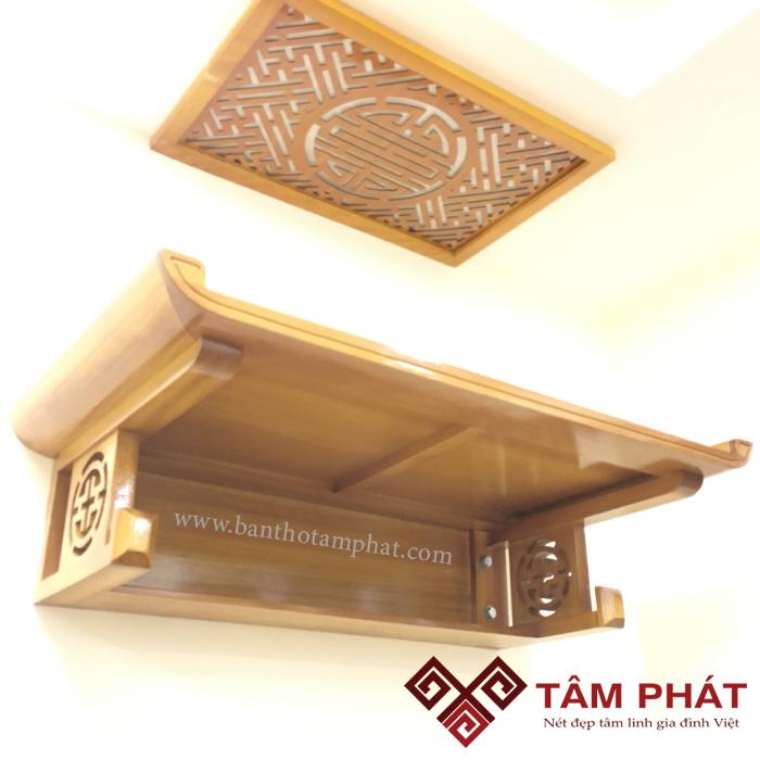 Bàn Thờ Treo Tường Gỗ Mít TTM028 Tâm Phát