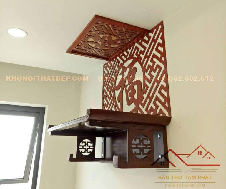 Bàn thờ treo tường Hà Nội Tâm Phát TT0092 không chiếm diện tích sinh hoạt của gia đình