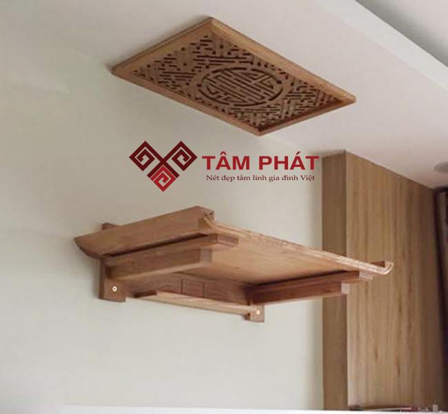 Thiết kế mẫu bàn thờ treo tường TT0018 đơn giản và tinh tế