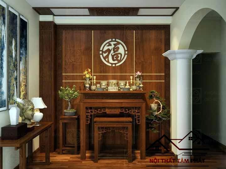 BT006 là mẫu bàn thờ đẹp đơn giản được ưa chuộng ở Tâm Phát