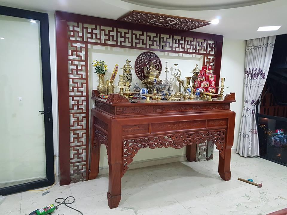 Hoàn thiện phòng thờ cho nhà anh Lưu tại Long Biên, Hà Nội
