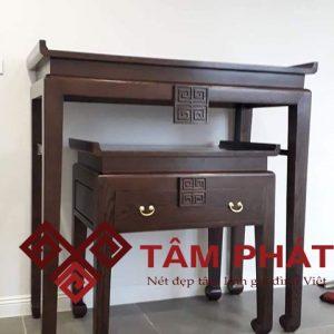 Mẫu bàn thờ gỗ sồi kích thước 61x107