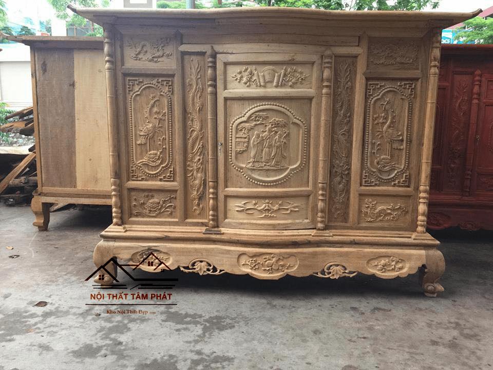 Tủ thờ gỗ gụ mẫu BTG020 Tâm Phát