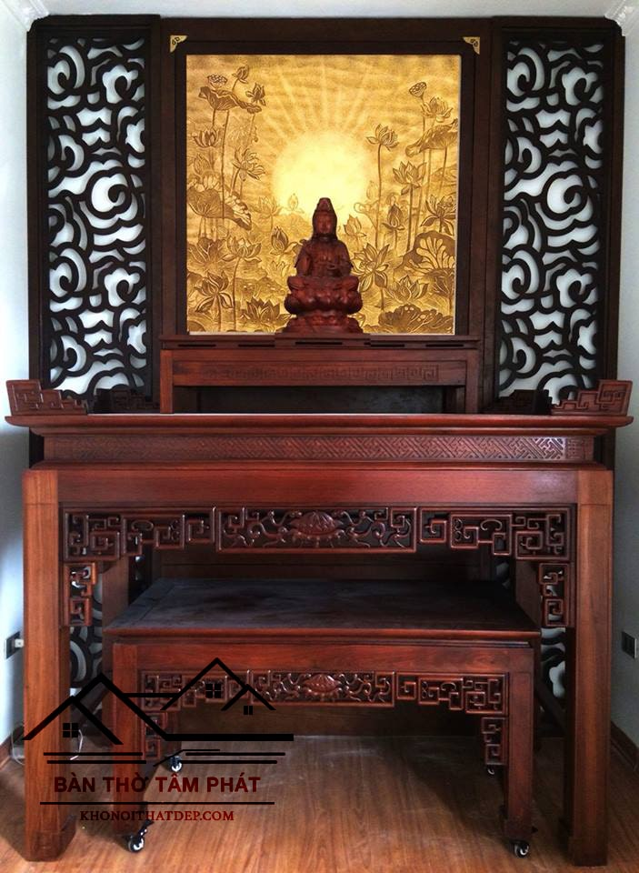 Mẫu bàn thờ đẹp hiện đại | Bàn thờ kích thước phong thuỷ đẹp