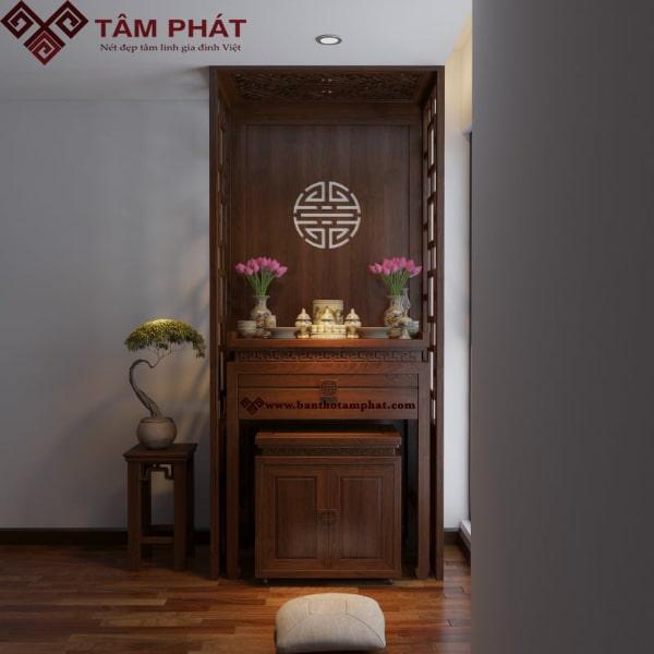 Mẫu bàn thờ đẹp rất phù hợp với không gian nhà chung cư