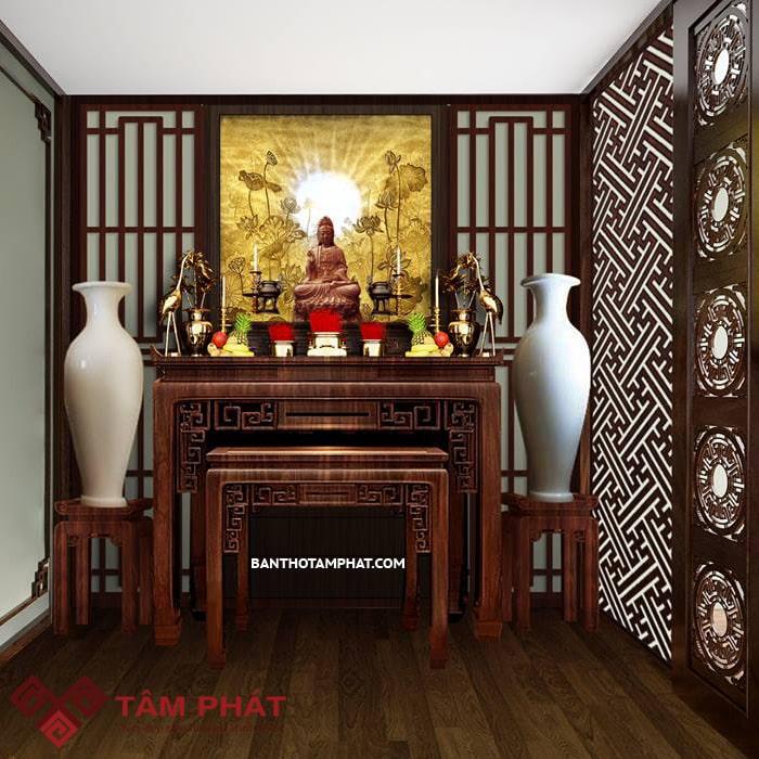 Bàn thờ gỗ hương BTH025 là mẫu bàn thờ được yêu thích hiện nay