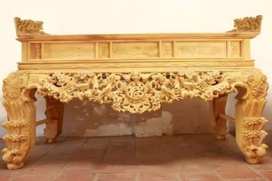Sập thờ gỗ mít đẹp, sang trọng, chắc chắn