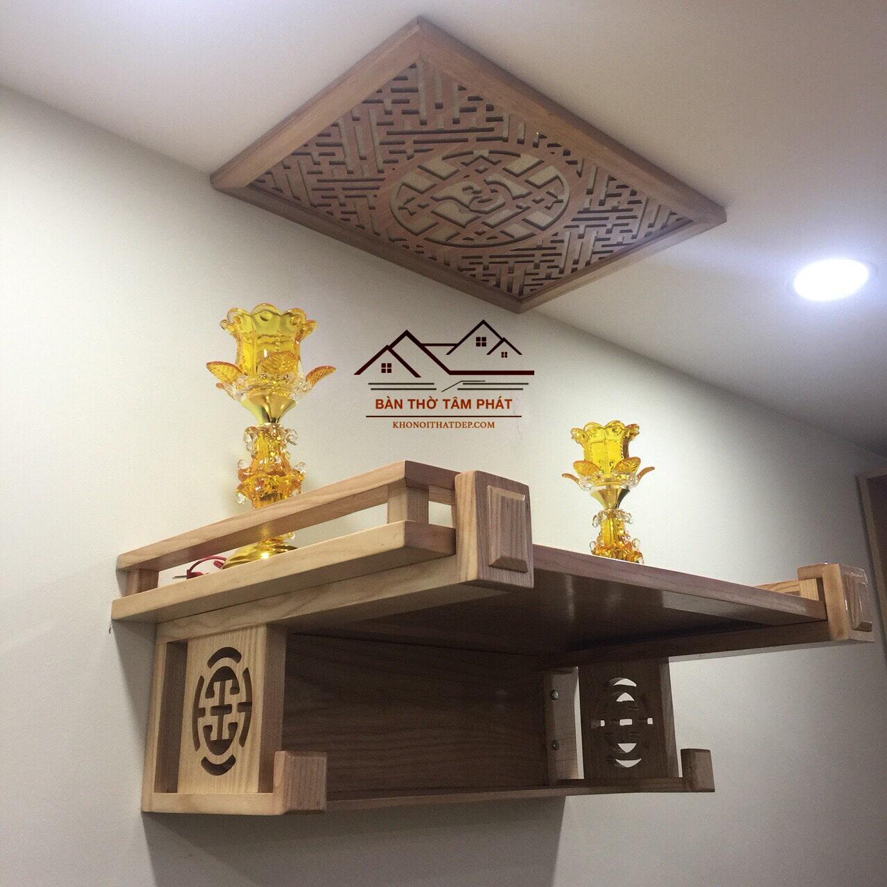 Xu hướng lựa chọn bàn thờ treo tường mang đậm phong cách truyền thống