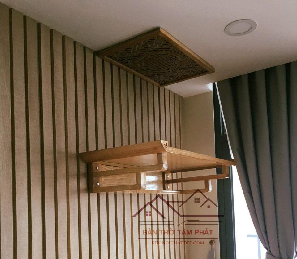 Bàn thờ cần phù hợp với diện tích và cách bài trí của căn phòng
