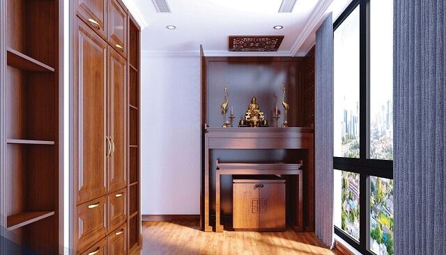 Những mẫu tủ thờ hiện đại nhưng cũng không kém phần thành kính, uy nghiêm