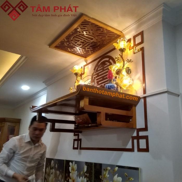 Giá bàn thờ bằng gỗ Mít Tâm Phát giá đi đôi với chất lượng