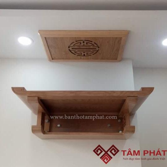 Mẫu bàn thờ treo tường đẹp TT0096 hiện đại đang là xu hướng lựa chọn nhiều nhất của khách hàng năm 2019