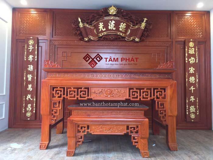 Feedback lắp bàn thờ nhà anh Tiến chung cư An Khang, Quận 7
