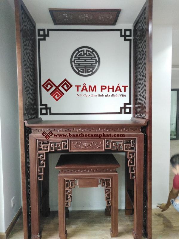 Mẫu bàn thờ BT003 gỗ Gụ kích thước 61x127