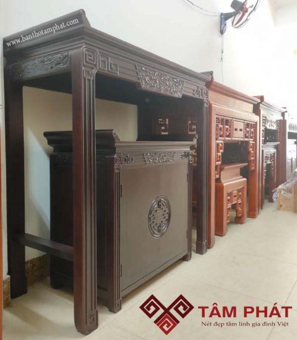 Mẫu bàn thờ đẹp gỗ Gụ BTG038