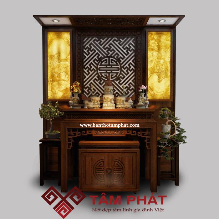 Những mẫu thiết kế bàn thờ đẹp hiện đại của Tâm Phát