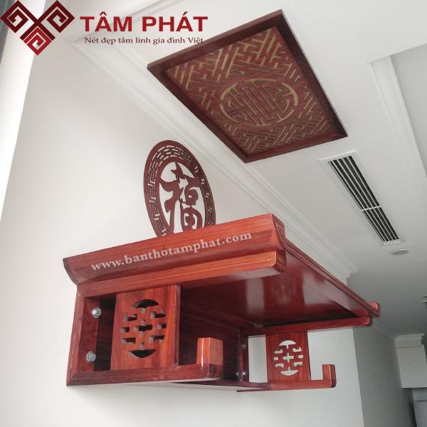 Mẫu bàn thờ treo tường gỗ Hương
