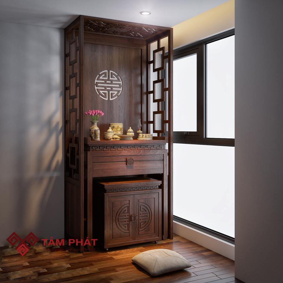 bàn thờ đẹp gỗ gụ