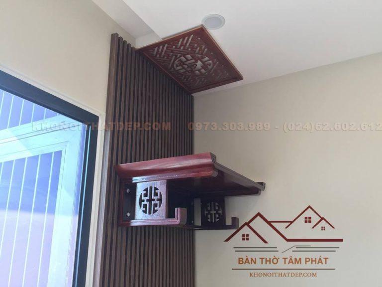 Bàn thờ treo tường chung cư mẫu TT022