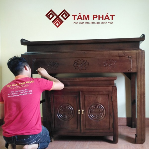 Bí quyết chọn kích thước bàn thờ tiêu chuẩn phù hợp với thiết kế nhà