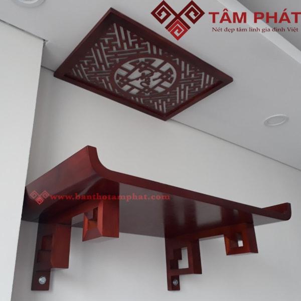 Mẫu bàn thờ treo đẹp TT0098 màu cánh gián