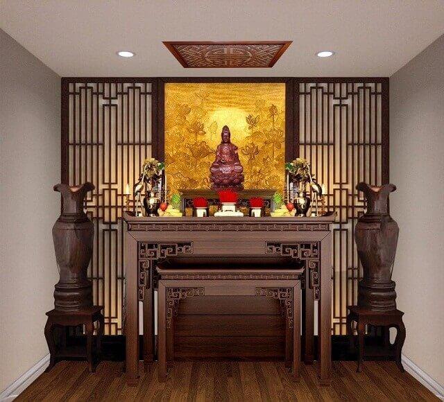 Bàn thờ Tâm Phát chạm khắc đẹp mắt