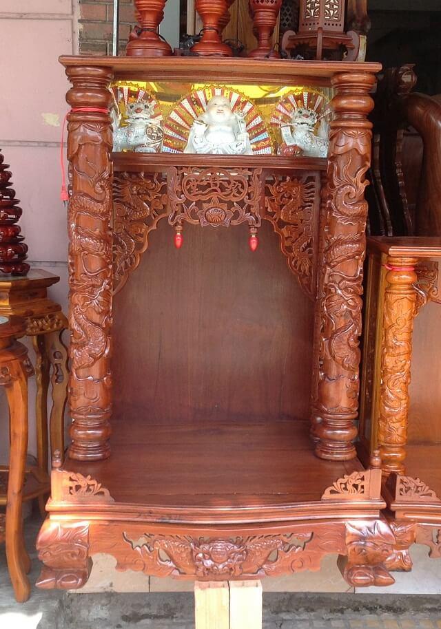 Bàn thờ Ông Địa bằng gỗ Hương