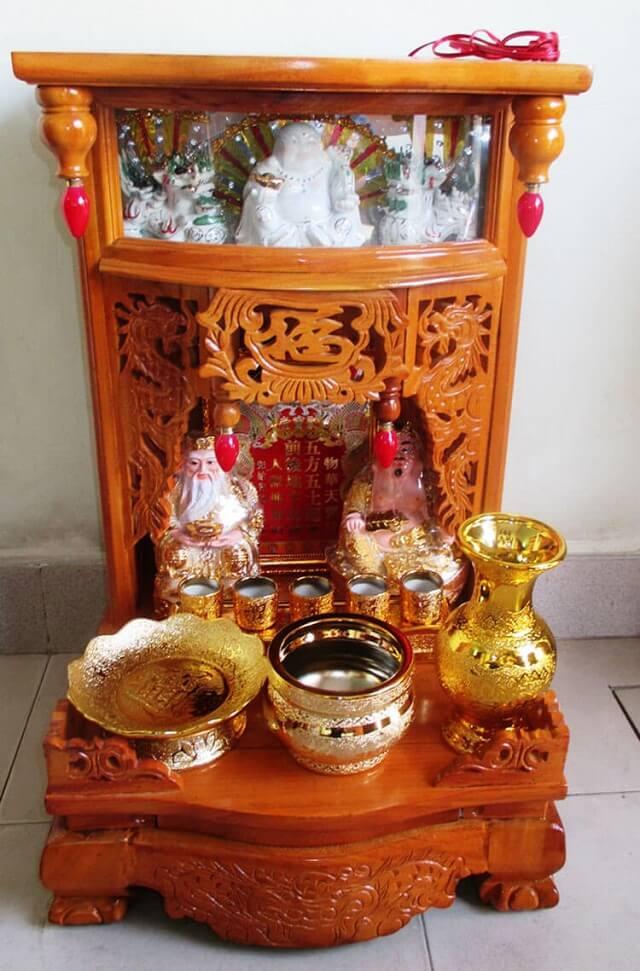 Chọn cẩn thận kích thước bàn thờ Ông Địa