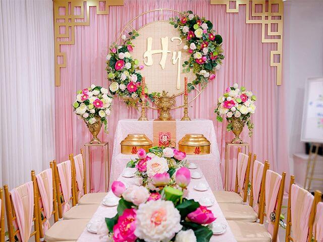 Những loại hoa nên có trên bàn thờ gia tiên ngày cưới