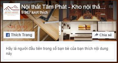 Fanpage facebook bàn thờ Tâm Phát