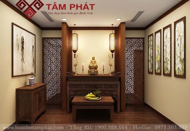 Tổng hợp mẫu Bàn Thờ Phật Đẹp, Bàn thờ Phật Treo Tường, Tủ thờ Phật, Bàn thờ Phật Bà Quan Âm bằng Gỗ Đơn Giản tổ điểm nét đẹp tâm linh người Việt