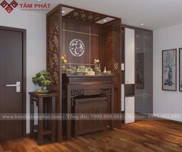 Mẫu bàn thờ đẹp tạo nên không gian thờ tự ấm cúng