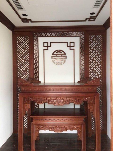 Mẫu phòng thờ đẹp với phong cách hiện đại