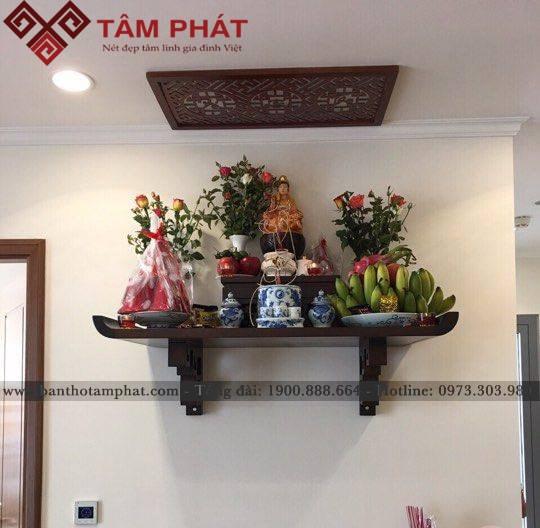 Bàn thờ treo tường Tâm Phát đẹp, phù hợp mọi diện tích nhà thuê