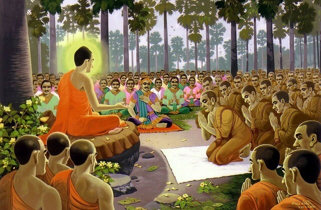 Đức Phật đến khắp nơi ở Miền Bắc của Ấn độ để truyền đạo