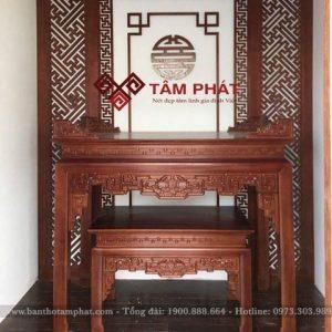 Mẫu bàn thờ gỗ đẹp Bt1058