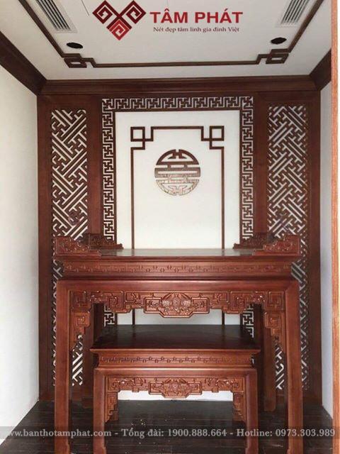 Mẫu bàn thờ gỗ đẹp
