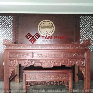 Mẫu bàn thờ gỗ đẹp BT1058 cho phòng thờ riêng