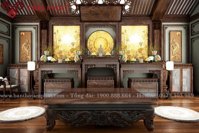 【5+】 Mẫu phòng thờ đẹp hợp phong thủy cho nhà phố 2021