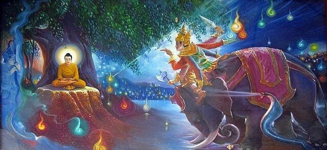 Ma vương Mara quấy nhiễu Phật Tổ đắc đạo