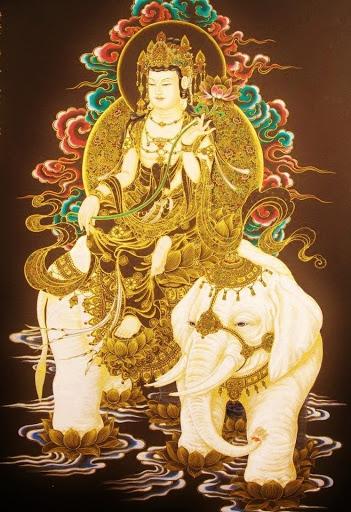 Biểu tượng của Bồ Tát Phổ Hiền là ngọc như ý hoa sen
