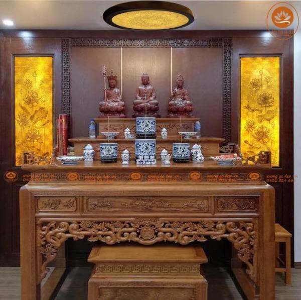 Cách bày 4 bát hương trên bàn thờ