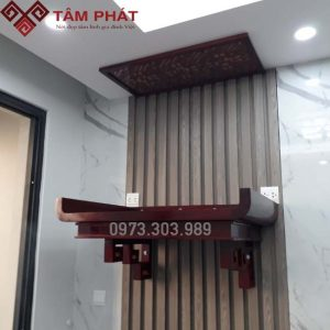 Mẫu bàn thờ treo TT0081 làm bằng gỗ Hương