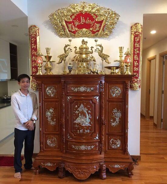 Mẫu bàn thờ, tủ thờ gỗ đẹp đáp ứng nhu cầu thờ cúng